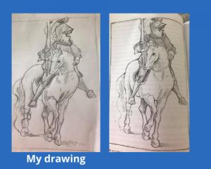 Upside down drawing